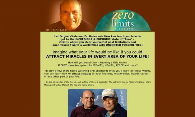 Dr. Joe Vitale's Zero Limits Maui