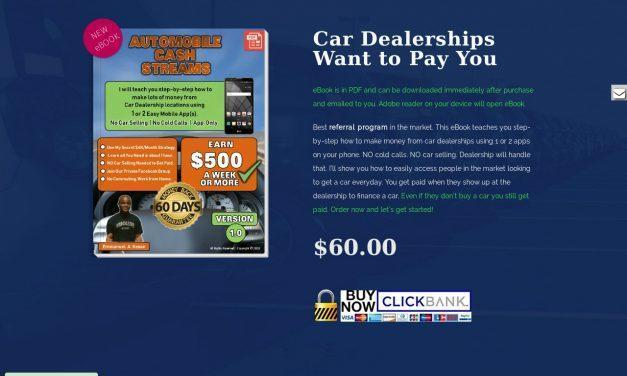 ClickBank – Automobile Cash Streams | New Referral Program