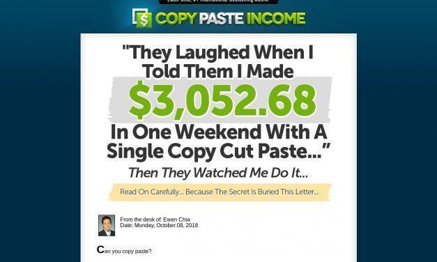 COPY PASTE INCOME!