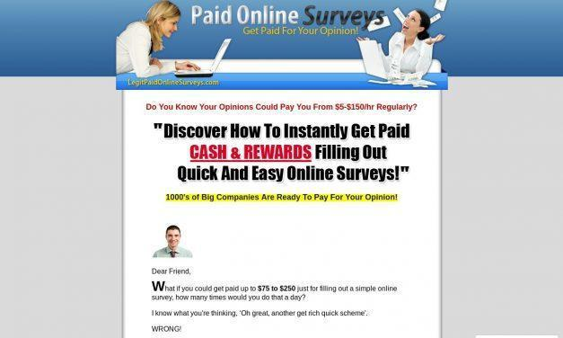 LegitPaidOnlineSurveys.com – Getting Paid for Online Surveys!