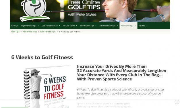 6 Weeks to Golf Fitness | Free Online Golf Tips