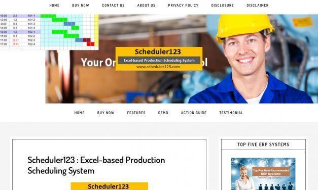 Production Schedule Template – Production Scheduling in Excel Spreadsheet for Master Scheduler