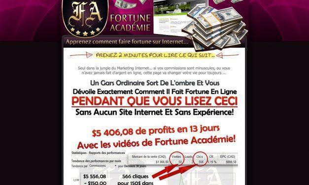 Fortune Académie – Apprenez Comment Faire Fortune Sur Internet…