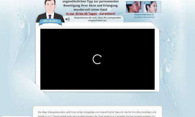 Nie mehr Akne – KOSTENLOSE Videopräsentation