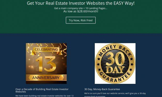 Real Estate Investor Websites – Professional Real Estate Investor Websites for Less