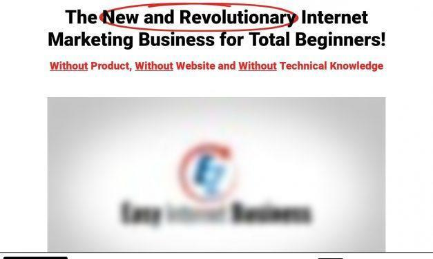 Easy Internet Business – The New and Revolutionary Internet Marketing Business for Total Beginners!