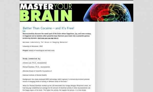 Master Your Brain Now! » Better Than Cocaine — and It's Free! » Master Your Brain Now!