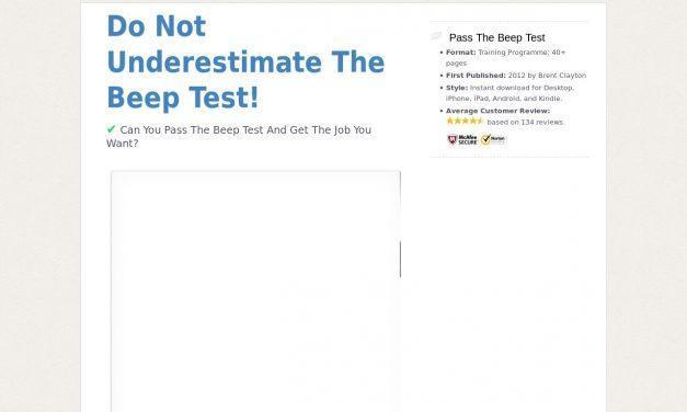 Pass The Beep Test!