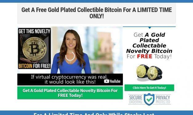 Gold Plated Collectable Novelty Bitcoin