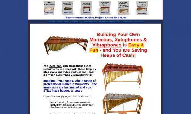 Download Plans to Make or build a marimba, vibraphone, xylophone, glockenspiel, metalophone