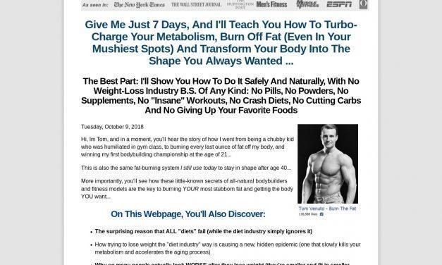 Burn The Fat Body Transformation System – Tom Venuto