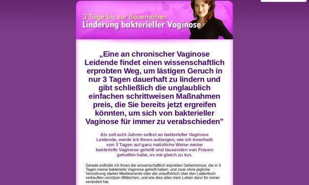3 Tage bis zur dauerhaften Linderung bakterieller Vaginose
