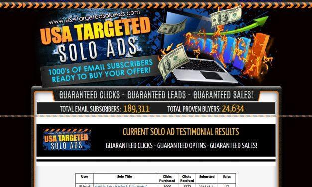 2018 USATargeted Solo Ads – Get 4000+ Clicks – Sales Guaranteed!