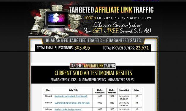 2018 Targeted Affiliate Link Traffic – 4000+ Clicks – Sales Guaranteed!