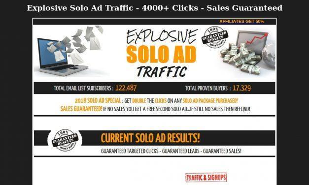 Explosive Solo Ad Traffic – 4000+ Clicks – Sales Guaranteed!