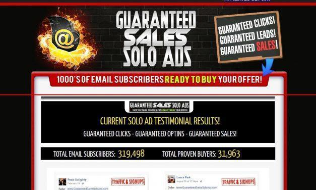 2018 Guaranteed Sales Solo Ads – 4000+ Clicks – Sales Guaranteed!