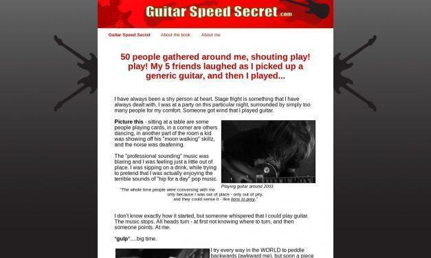 Guitar Speed Secret