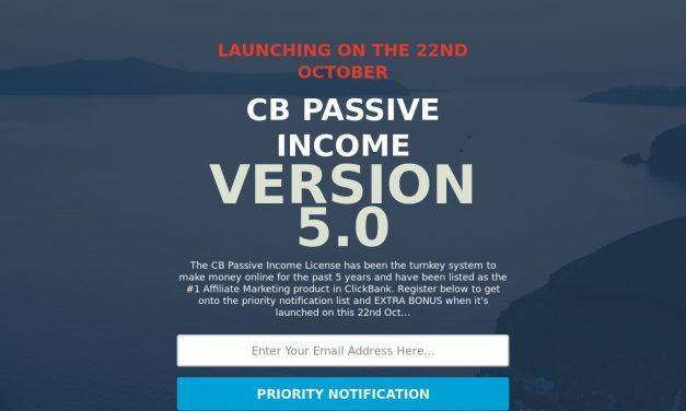 CB Passive Income 5.0 Priority Notification