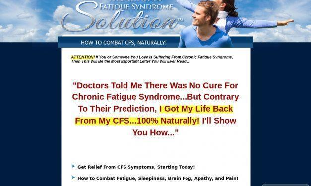 The Chronic Fatigue Syndrome Solution™ – Free Yourself From CFS, Naturally!