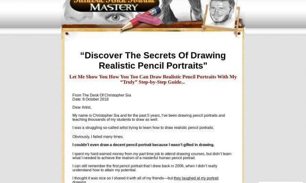 Realistic Pencil Portrait Mastery – Learn How To Draw Realistic Pencil Portraits