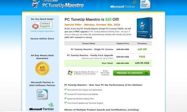 Clean My PC – Purchase PC Tuneup Maestro | CompuClever