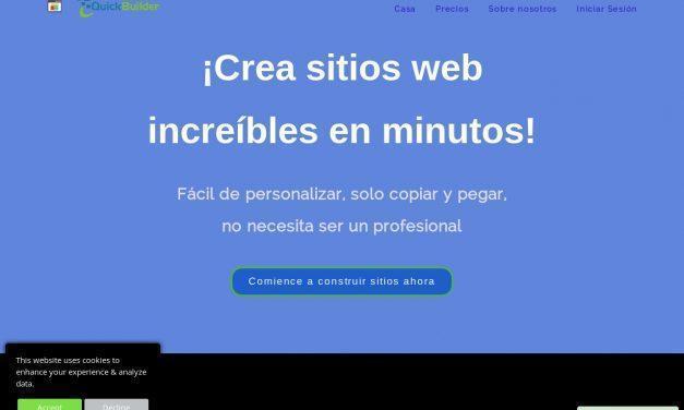 QuickBuilder – Creador de Sitios Web Gratis