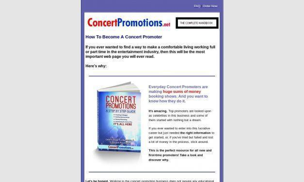 Concert Promotions – learn how to become a concert promoter and book shows