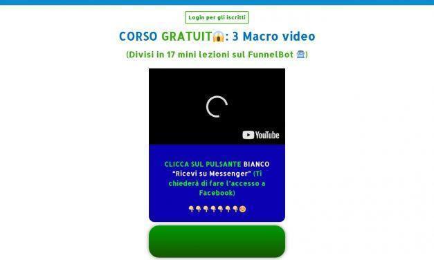 Corso Gratuito FunnelBOT Empatico | 3 Macro video (17 mini lezioni)