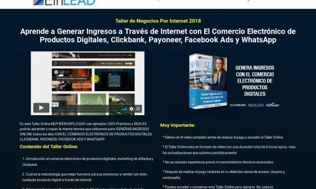 CV 2 – Taller de Negocios Por Internet – CB – $97 USD – EinLead – Escuela de Negocios Digitales