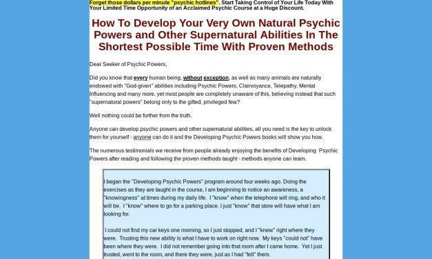 Developing Psychic Powers: How to develop psychic ability, live psychic ability, clairvoyant ability, telekinesis, psychokinesis and telepathy without telling or the need for a fortune teller
