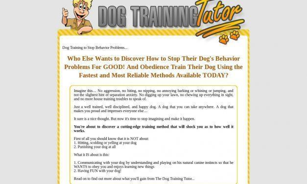 Dog Training Tutor