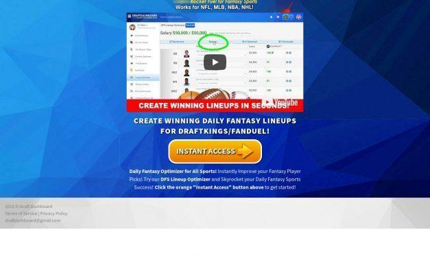 DFS Lineup Optimizer for DraftKings and FanDuel Daily Fantasy Sports