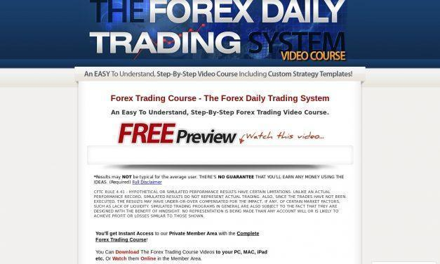 Forex Trading Course – The Forex Daily Trading System