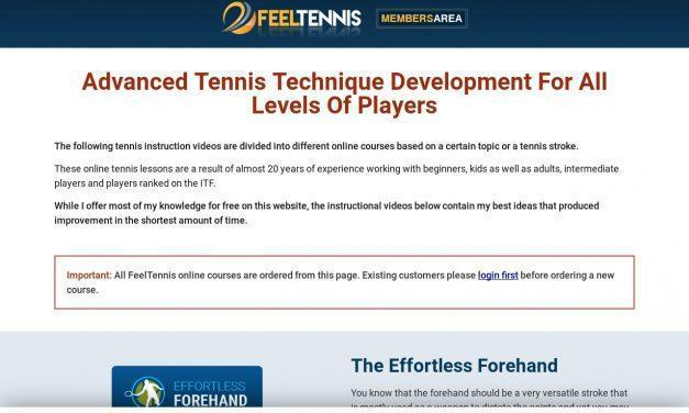 Tennis Online Courses And Instruction Videos | Feel Tennis