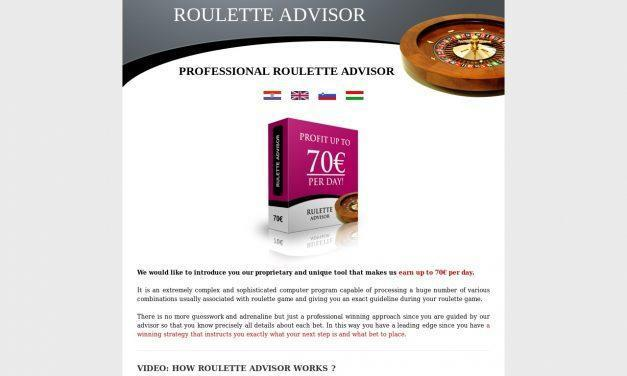 Professional Roulette Advisor you can grab up to 70 € each day