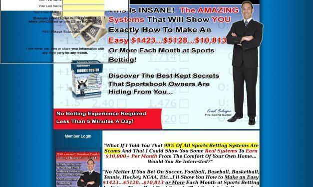 Bookie Buster | Sports betting systems that sportsbook owners don't want you to know