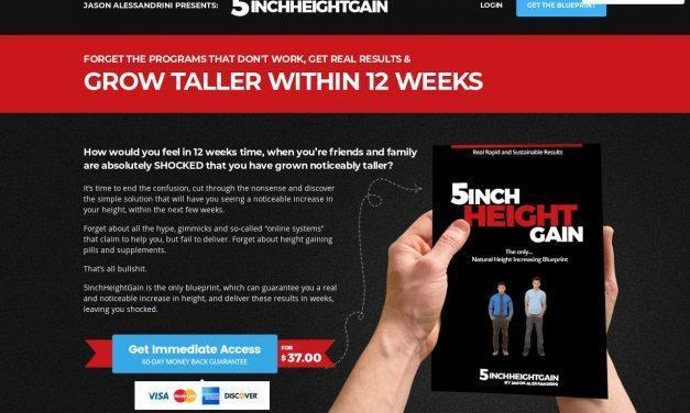 5InchHeightGain – How To Grow Taller & Increase Your Height!