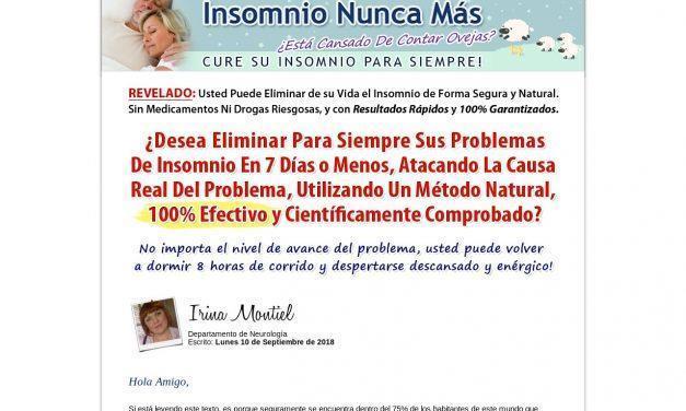 Insomnio Nunca Más™ | Cure Su Insomnio Para Siempre!