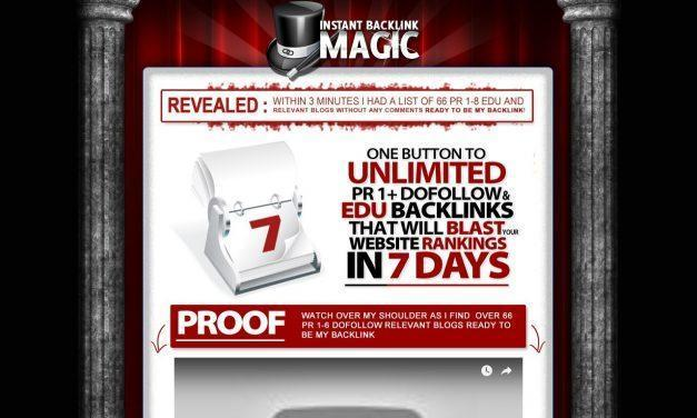Instant Backlink Magic – Push Button Backlink Tool