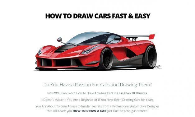 How To Draw A Car Fast & Easy – with Tim Rugendyke