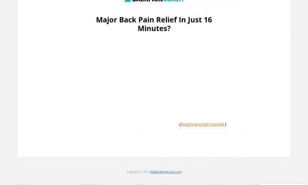 This Unusual Method Relieves Years of Upper AND Lower Back Pain…