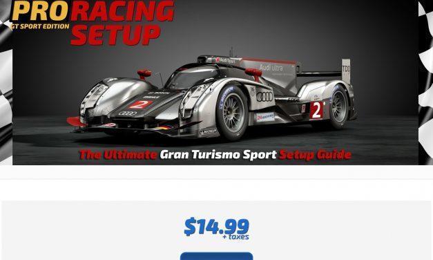 Pro Racing Setup GT Sport Edition