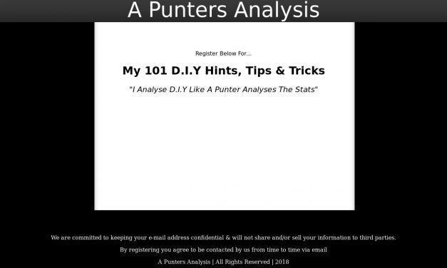 A PUNTERS ANALYSIS