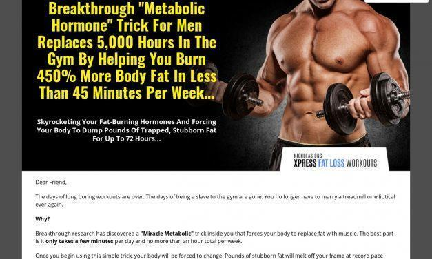 "Breakthrough ""Metabolic Hormone"" Trick For Men Replaces 5,000 Hours In The Gym By Helping You Burn 450% More Body Fat In Less Than 45 Minutes Per Week…"