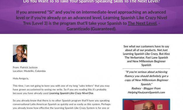 Learning Spanish Like Crazy Level 3