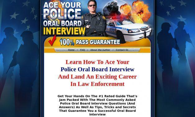 Police Oral Board – Police interview questions for the oral board exam