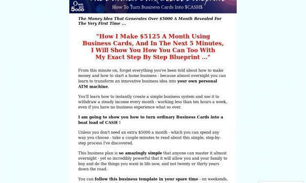 How To Make Money Fast – How To Turn Business Cards Into $5000