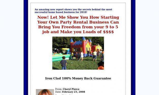 Start a Party Rental Business – Start a Party Rental Biz, Moonwalk Business, Bounce House Business