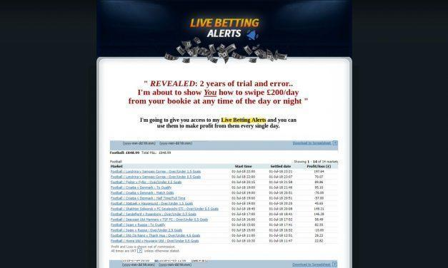 Live Betting Alerts