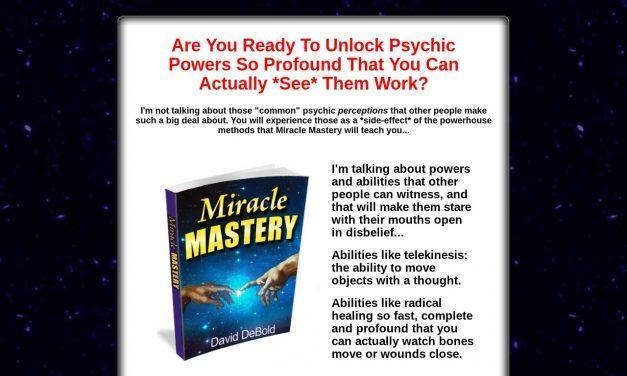 Miracle Mastery – Extreme, *Physical* Psychic Abilities